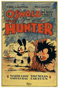 "Oswald the Lucky Rabbit in ""The Hunter"" Disney animated feature (1931)"