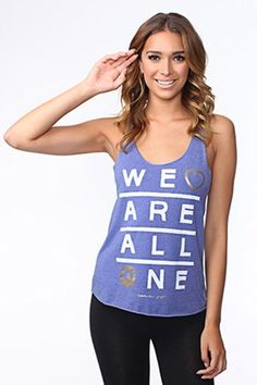 NEW Spiritual Gangster We Are All One  Racerback Tank  Tee *Small Yoga Fitness #SpiritualGangster #GraphicTee