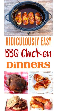 One of the best things about enjoying delicious BBQ chicken at home is that it's so easy! Most of these Best BBQ Chicken Recipes take hardly any prep time. Chicken Parmesan Recipes, Grilled Chicken Recipes, Baked Chicken Recipes, Best Bbq Chicken, Ways To Cook Chicken, Delicious Crockpot Recipes, Easy Dinner Recipes, Fall Recipes, Yummy Recipes