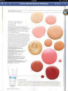 Rodan + Fields anti-age brightening hand cream featured as editors pic in Martha Stewart wedding magazine.