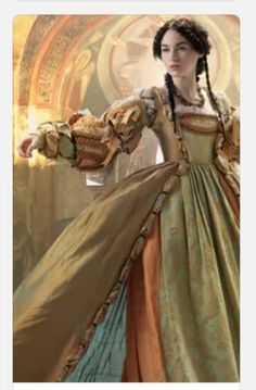 Medieval and Renaissance Dresses Mode Renaissance, Costume Renaissance, Medieval Costume, Renaissance Clothing, Renaissance Fashion, Medieval Dress, Italian Renaissance, Historical Costume, Historical Clothing