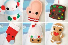 Kawaii xmas ornaments #ideas