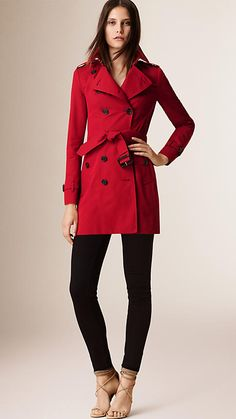 Parade Red The Sandringham - Mid-length Heritage Trench Coat - Image 1