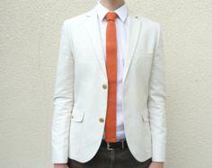 Mens Neckwear Forest Green Skinny Wool Necktie Flat by vKnit