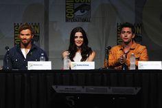 Jackson Rathbone, Kellan Lutz, and Ashley Greene at Comic Con