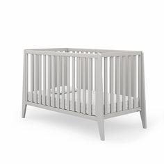 Boston 2-in-1 Convertible Crib - Gray - Project Nursery Shaker Furniture, Baby Furniture, Best Baby Cribs, Wood Crib, Grey Crib, Convertible Bed, Project Nursery, Nursery Ideas, Crib Mattress