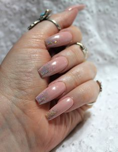 Press on Nude Holographic Nails, Stiletto Coffin Round Square Fake Nails Press on Nude Pink Nails Wi Pink Acrylic Nails, Pink Nails, My Nails, Fall Nail Designs, Acrylic Nail Designs, Coffin Nails Long, Pretty Nail Art, Holographic Nails, Fabulous Nails