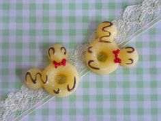 2 pcs Mouse Head Doughnuts cabochons Doughnuts with by forestdiy