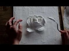 34 Ideas Wall Murals Diy Tutorials Painting Techniques For 2019 Plaster Sculpture, Sculpture Painting, 3d Painting, Texture Painting, Plaster Crafts, Plaster Art, Volume Art, Acrylic Painting Techniques, Wall Murals