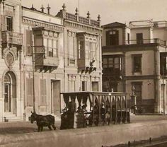 Atlı Tramvay Greek History, Ottoman Empire, Old City, Old Photos, Istanbul, City Photo, Old Things, Street View, Architecture