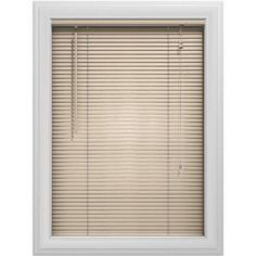 Bali Essentials 1 inch Aluminum Blind, Corded, Wheat, Brown