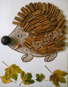 Mauriquices: Um ouriço com cheiro a canela! Toddler Crafts, Diy Crafts For Kids, Arts And Crafts, Craft Kids, Forest School Activities, Hedgehog Craft, Reduce Reuse Recycle, Autumn Crafts, Christmas Decorations