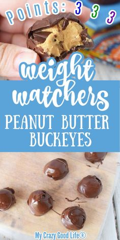 These Weight Watchers Peanut Butter Buckeyes are a delicious dessert! 3 Green Points | 3 Blue Points | 3 Purple Points