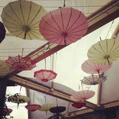 wedding ceiling decorations | Ceiling decor Umbrellas #vintage #decor #design #interior # ...