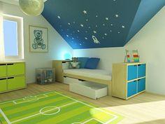 Březovo-bílá postel - Dětský pokoj