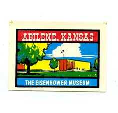 The Eisenhower Museum Abilene Kansas Vintage Car Window Travel Decal Made by the Baxter Lane Co.