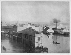 1884 flood at Ohio, Greene, and Front streets