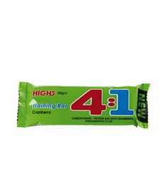 HIGH 5 4:1 TRAINING BAR - All-in-one carbohydrate/protein bar, for during and after sport - Simple and Complex carbs - Protein for the maintenance and growth of muscle mass - Fruit & grain - Easy to chew - With natural flavours. No artificial colours, preservatives or sweeteners.