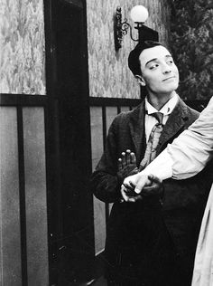 "Buster Keaton smiling in Roscoe Arbuckle's film ""Good Night, Nurse!"" (1918)"