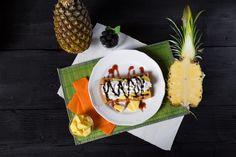 Jedlo - Gofry so šľahačkou a ananásom