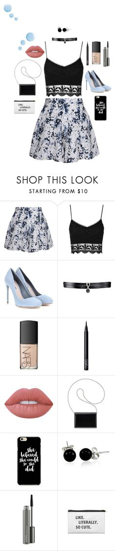 """Untitled #171"" by janisan0310 ❤ liked on Polyvore featuring Olive + Oak, Topshop, Miu Miu, Fallon, NARS Cosmetics, Lime Crime, Nine West, Bling Jewelry and MAC Cosmetics"