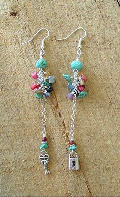 Boho Earrings Bohemian Jewelry Long Earrings Ear by BohoStyleMe