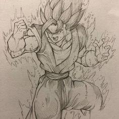 Anime Dibujos A Lapiz Dragon Ball Manga Drawing, Drawing Sketches, Anime Character Drawing, Character Art, Yggdrasil Tattoo, Dbz Drawings, Dragon Super, Anime Boy Sketch, Ball Drawing