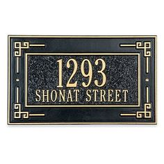 Key Corner Address Plaque - 1 Line - BLACK/GOLD - Improvements by Improvements. $94.99. Key Corner Address Plaque meets local 911 emergency standards. This Craftsman-inspired address marker is an elegant way to communicate your address. Address marker is designed to withstand hard weather conditions. This Craftsman-inspired address marker is an elegant way to communicate your address. Key Corner Address Plaque meets local 911 emergency standards. Address marker is desig...