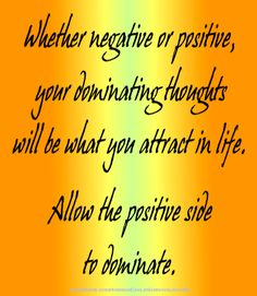 Law of Attraction is ALWAYS active. You attract what you are focused on. Choose positively.