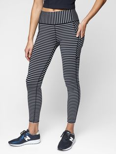 373c78aefb494c Stripe Contender 7/8 Tight in Powerlift navy| Athleta $89 Active Wear For  Women