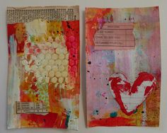 Mixed Media Backgrounds Tutorial by nikimaki, via Flickr