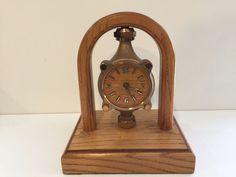 Vintage Rockwell International Water Meter Table Quartz Clock w/Oak Frame #VintageRetro