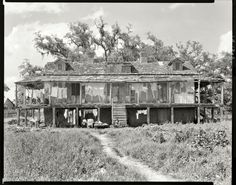 "The Trepagnier Plantation was expropriated, along with several others, by the U. S. Army Corps of Engineers to build the Bonnet Carre' Spillway.    Per Frances E. Johnson, the Photographer – 1938  ""St. Charles Parish, Louisiana. 'The Rookery', Trepagnier House. Norco vicinity. Abandoned plantation house"