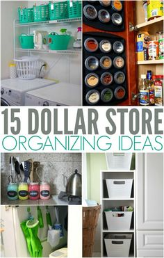 Simple Dollar Store Organizing Ideas and Hacks for any budget. Declutter | Cleaning | organize | simplify | budget organizing ideas via @PennyPinchinMom