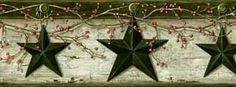 PUR44601B Gray Rustic Star Wallpaper Border - Wallpaper & Border | Wallpaper-inc.com