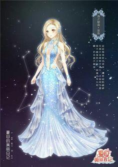 Beautiful anime art of girl