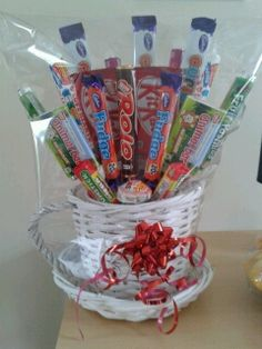 Sweets in a plant pot holder, yummy