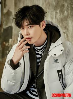 Lee Jong Suk in Cosmopolitan Korea December 2016 Suwon, Lee Jong Suk Cute, Lee Jung Suk, Asian Actors, Korean Actors, Kpop, Lee Jong Suk Wallpaper, Up10tion Wooshin, W Two Worlds