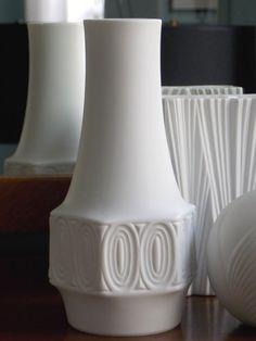 Mid Century Modern White Vase West German Porcelian Matte Op Art Relief Seltmann Weiden Bavaria Germany 1960s on Etsy, $145.00