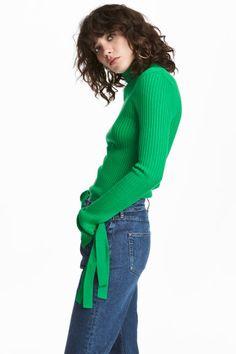 Camisola canelada - Verde - SENHORA   H&M PT