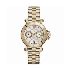 Guess - Women Wrist Watch Stainless Steel Yellow Gold Mother of Pearl Water Resistant Quartz Brand Name Watches, Sport Watches, Women's Watches, Stainless Steel Bracelet, Stainless Steel Case, Color Dorado, Sport Chic, Watch Sale, Inspirational Gifts