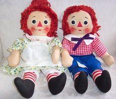 Knickerbocker Raggedy Ann and Andy Dolls