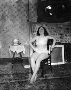 Photograph of Storyville prostitute, by E. J. Bellocq, circa 1912.
