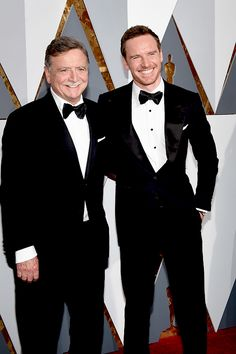 #MichaelFassbender and his dad Josef Fassbender at the 2016 Oscars.