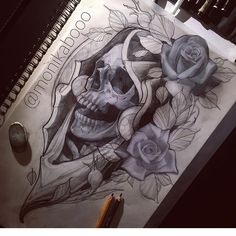 Chicanas Tattoo, Reaper Tattoo, Life Tattoos, Body Art Tattoos, Hand Tattoos, Sleeve Tattoos, Tattoos For Guys, Octopus Tattoo Design, Tattoo Design Drawings