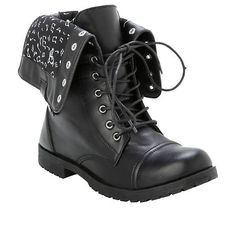 Music Note Combat Boots Hot Topic (140 BRL) ❤ liked on Polyvore featuring shoes, boots, ankle booties, black boots, lace up booties, military boots, combat booties and black ankle booties