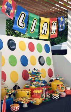 Liam's 7th birthday LEGO bash!   CatchMyParty.com