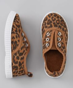 Tan & Brown Leopard Slip-On Sneaker | Daily deals for moms, babies and kids