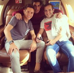 Ander Herrera on a private jet.