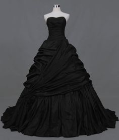 Black Wedding Dress for Gothic or Halloween Theme
